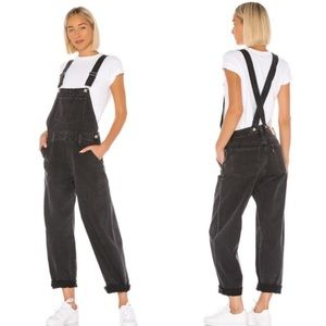 NWT Levi's Black Baggy Cannon Overalls S